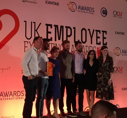 The Happiness Index team at UK Employee Experience Awards