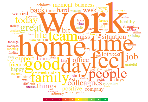 word cloud themes from Employee Voice 24/7