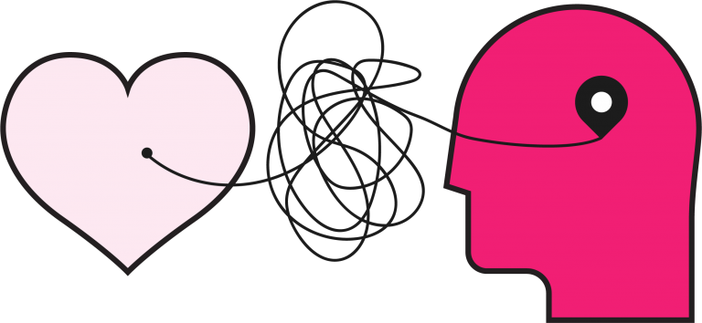 Happiness and HUmans Community - Brain & Heart Icon