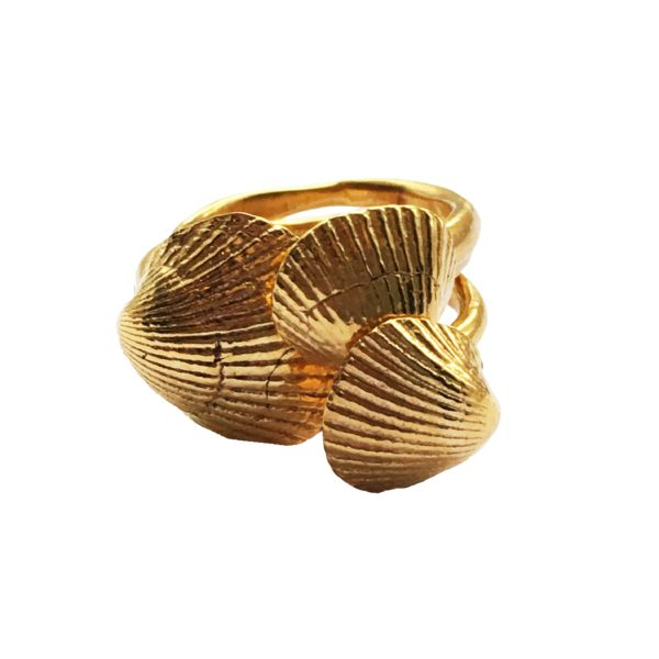 T/Raw Jewellery Rings  State of NatureGold-plated Naturally Summer ring
