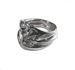 T/Raw Jewellery Rings  State of NatureSilver Bones ring