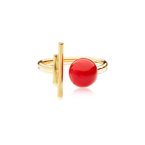 Vera Vega Rings  SymbolsGold-plated Rouge Ballroom ring.