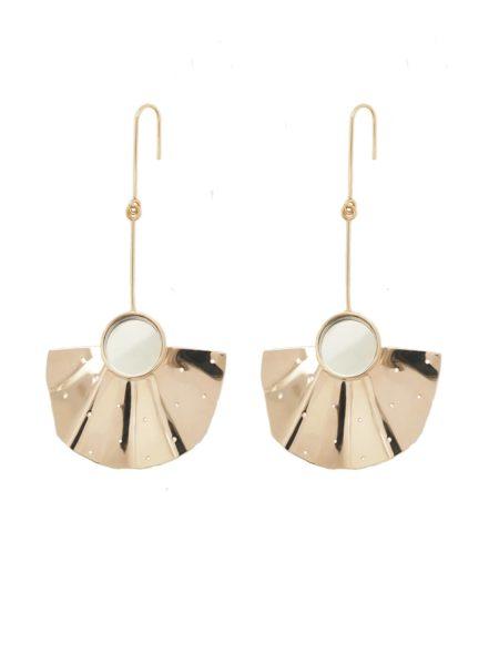MalaikaRaiss Earrings  Earrings Fan long perforated