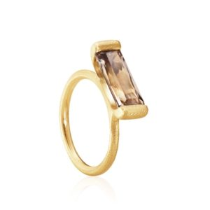 Dulong Fine Jewelry Rings  FutureFuture ring with smokey quartz