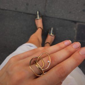 MaryLou Rings  Fil d'or & Fil d'argentFil d'or Ring