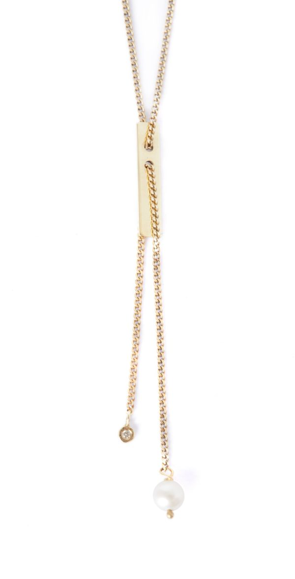 Vibe Harsløf Jewelry Necklaces  Gold SS18Gold necklace with freshwater pearl