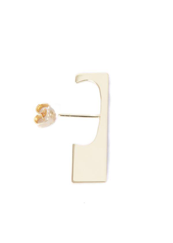 Vibe Harsløf Jewelry Earrings  Gold SS18Gold Square earrings