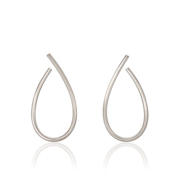 Dulong Fine Jewelry Earrings Hoops  KharismaLarge Kharisma silver earrings