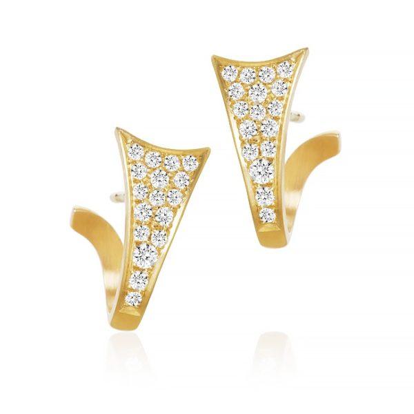 Dulong Fine Jewelry Earrings  LunaLuna Loop earrings with diamonds