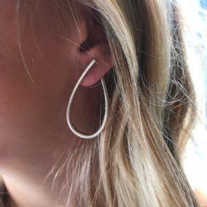 Dulong Fine Jewelry Earrings Hoops  KharismaLarge Kharisma silver earrings