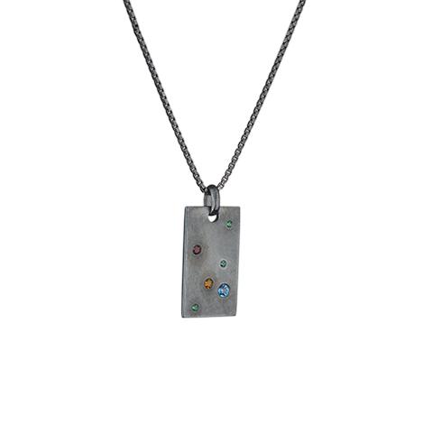 Vera Vega Necklaces  ManhattanSilver Midnight Signet Necklace.