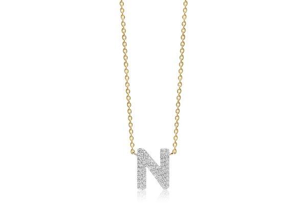 Sif Jakobs Jewellery Necklaces  NOVOLIGold-plated Novoli N necklace