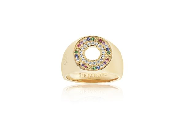 Sif Jakobs Jewellery Rings  VALIANOGold-plated Valiano signet ring