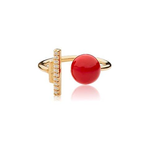 Vera Vega Rings  SymbolsGold-plated Sparkling Ballroom ring.