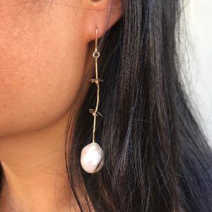 MaryLou Earrings  Strawberry FieldStrawberry Field Earring