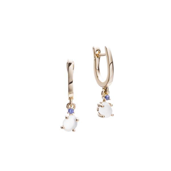 Vieri Responsible Fine Jewellery Earrings  Tiny Clouds CollectionTiny Clouds Collection Earrings Deep Blue