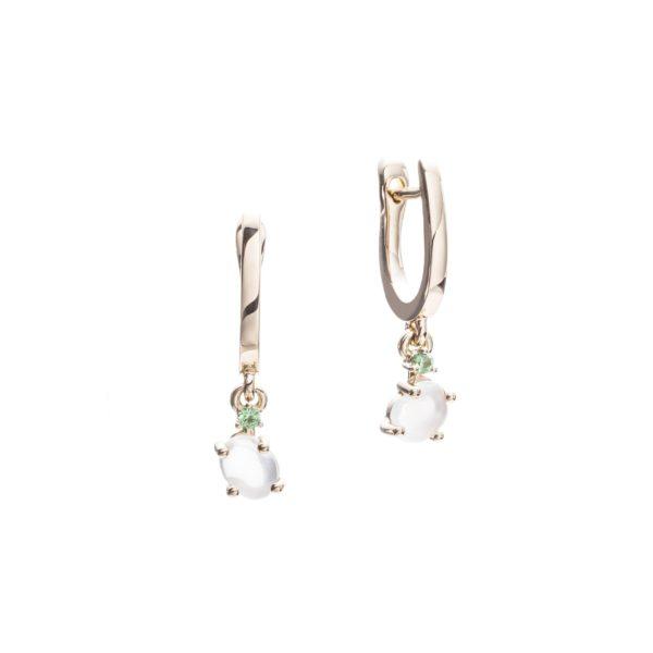 Vieri Responsible Fine Jewellery Earrings  Tiny Clouds CollectionTiny Clouds Collection Earrings Grass Green