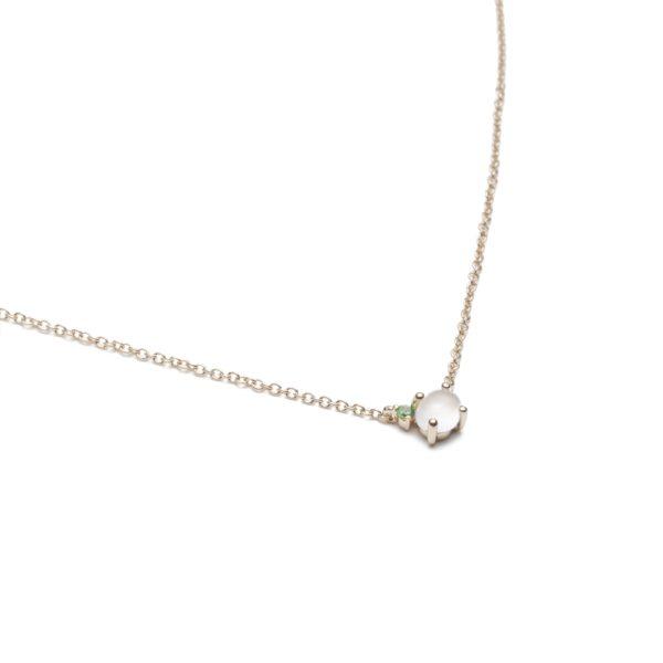 Vieri Responsible Fine Jewellery Necklaces  Tiny Clouds CollectionTiny Clouds Collection Necklace Grass Green