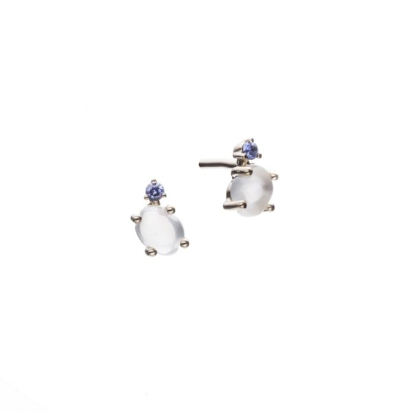 Vieri Responsible Fine Jewellery Earrings  Tiny Clouds CollectionTiny Clouds Collection Studs Deep Blue