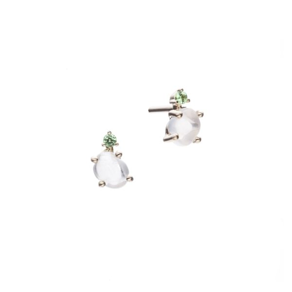 Vieri Responsible Fine Jewellery Earrings  Tiny Clouds CollectionTiny Clouds Collection Studs Grass Green