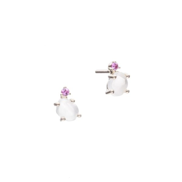 Vieri Responsible Fine Jewellery Earrings  Tiny Clouds CollectionTiny Clouds Collection Studs Ruby Red