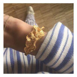 T/Raw Jewellery Bangles Bracelets  State of NatureGold-plated Coral bracelet