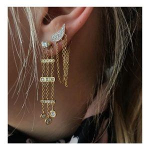 Josina Earrings  Drip DropDrip Drop single in rosegold