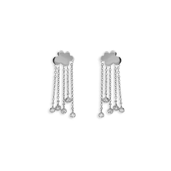 Josina Earrings  Rain CloudRain Cloud whitegold earrings