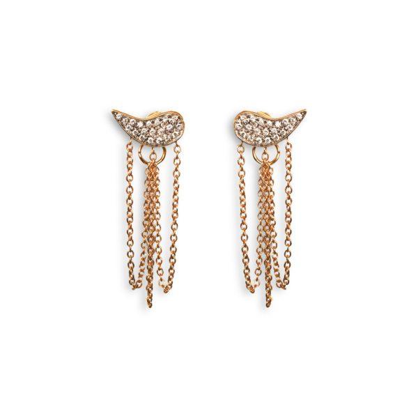 Josina Earrings  Drip DropDrip Drop rosegold earrings