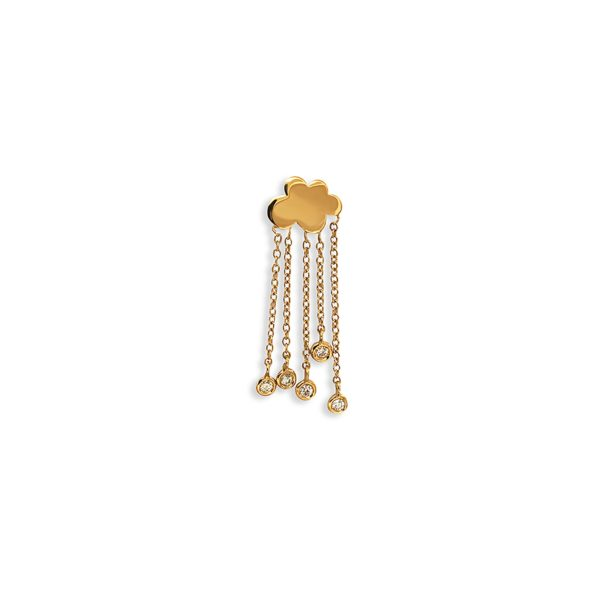 Josina Earrings  Rain CloudRain Cloud Single in gold