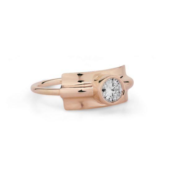 Josina Rings  FoldedFolded ring in rosegold