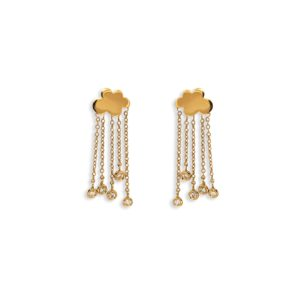Josina Earrings  Rain CloudRain Cloud gold earrings