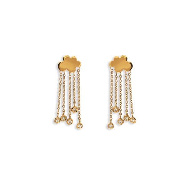 Josina Earrings  Rain CloudRain Cloud gold earrings