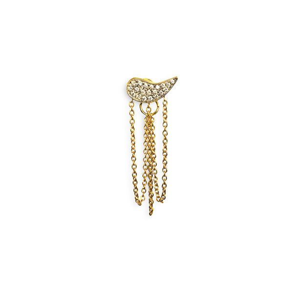 Josina Earrings  Drip DropDrip Drop single in gold