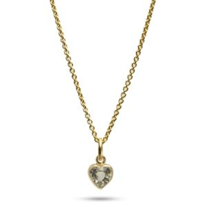 Carré Jewellery Necklaces  FOREVER AFTERYellow sapphire heart necklace