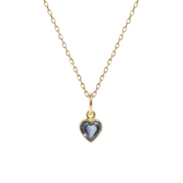 Carré Jewellery Necklaces  FOREVER AFTERBlue sapphire heart necklace