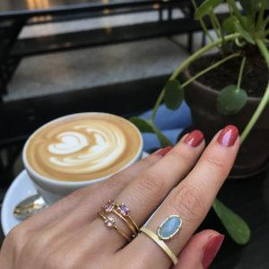 Carré Jewellery Rings  FOREVER AFTERPink drop shaped sapphire ring
