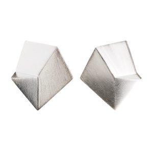 Sofie Lunøe Earrings  FlakeMedium silver Flake Earrings