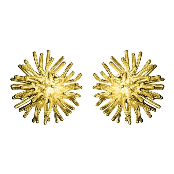 Sofie Lunøe Earrings  PomponGold Pompon Earrings