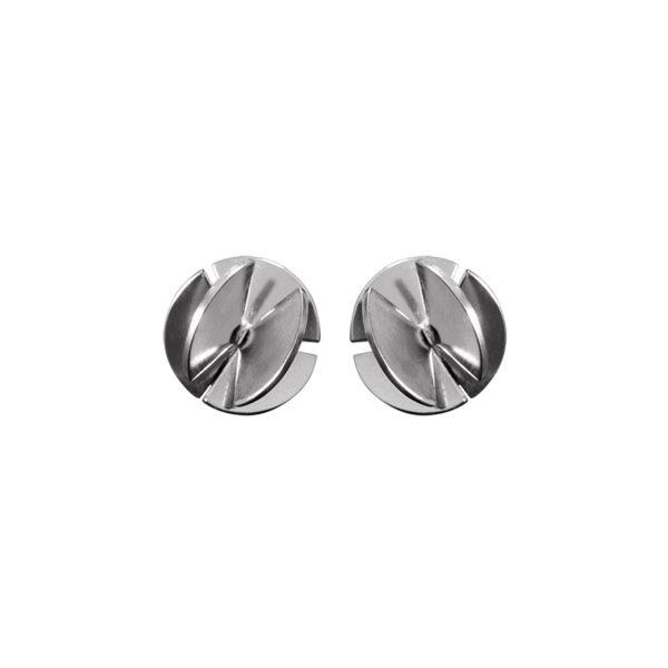 Sofie Lunøe Earrings  Fan SphereMini silver Fan Sphere Earrings