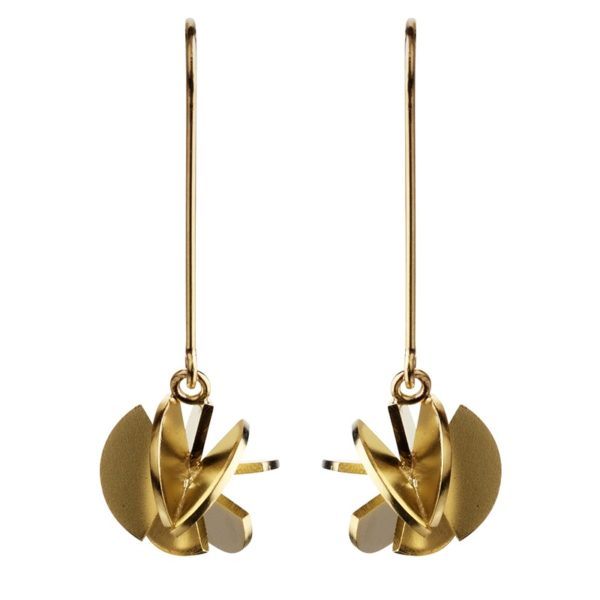 Sofie Lunøe Earrings  Fan SphereGold Fan Sphere Earrings