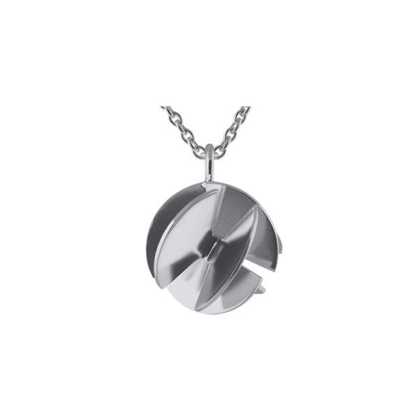 Sofie Lunøe Necklaces  Fan SphereSmall silver Fan Sphere Necklace