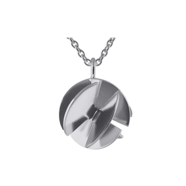 Sofie Lunøe Necklaces  Fan SphereMedium silver Fan Sphere Necklace