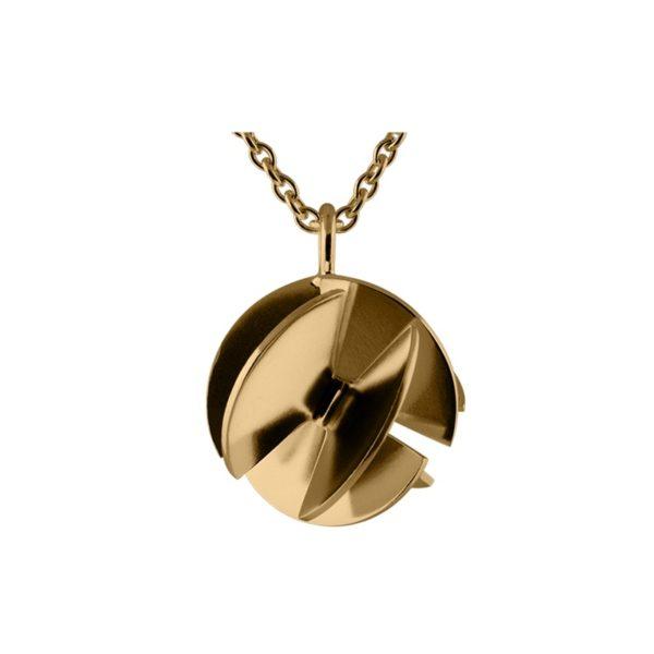 Sofie Lunøe Necklaces  Fan SphereMedium gold Fan Sphere Necklace