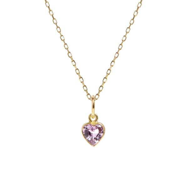 Carré Jewellery Necklaces  FOREVER AFTERPink sapphire heart necklace