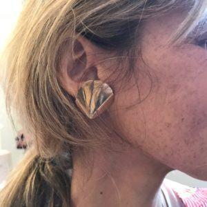 Rebekka Notkin Earrings  FLAMEFlame Double Pleaded Earclips