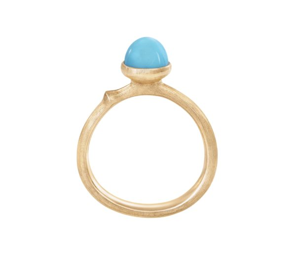 Ole Lynggaard Copenhagen Rings  Lotus size 0 with turquoise
