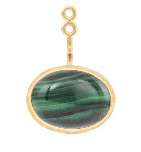 Ole Lynggaard Copenhagen Earrings  Lotus pendant with malachite