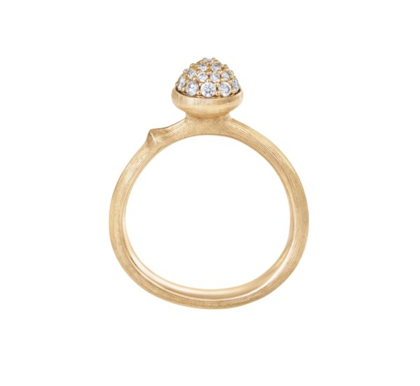Ole Lynggaard Copenhagen Rings  Small pavé Lotus ring