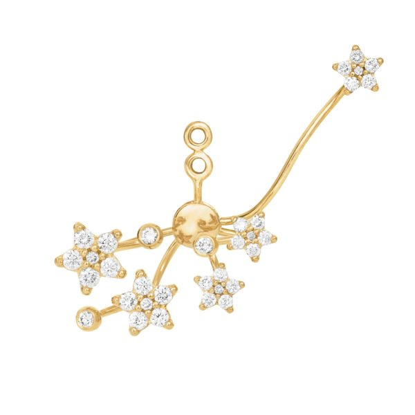Ole Lynggaard Copenhagen Earrings  Large Shooting Star pendant